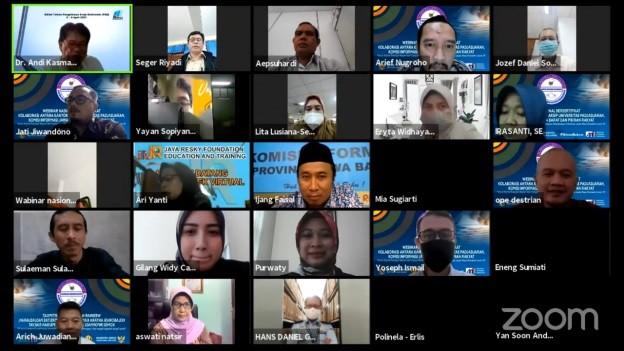 KI Jabar Gelar Webinar Nasional Tentang Arsip Dan Keterbukaan Informasi Public Pada Masa Pandemic